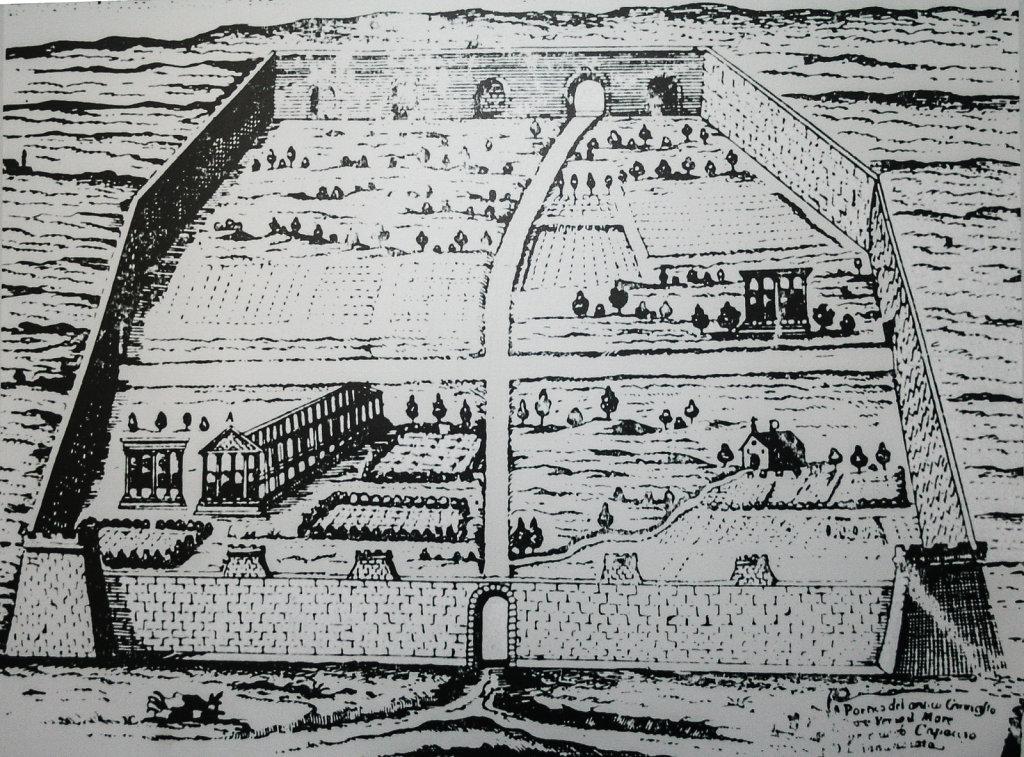 Karte der Ruinen von Paestum (1732)