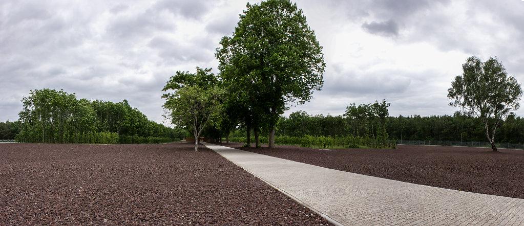 Blick auf das Gelände des Konzentrationslagers Esterwegen